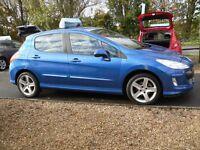 PEUGEOT 308 1.6 VTi (120bhp) Sport Hatchback 5d 1598cc (blue) 2010