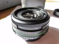 Pentax Prime Lens - 70mm SMC DA 1:2.4 Limited - mint condition in Edinburgh, close to airport.