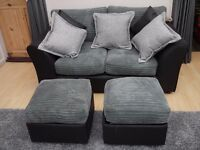 2 Seater Sofa with 2 storage cubes