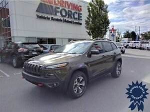 2015 Jeep Cherokee Trailhawk - 4x4, Power Sunroof, 29,975 KMs