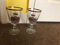 Queen Elizabeth II silver jubilee 1977 glasses