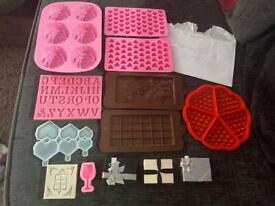 Large silicone moulds bundle