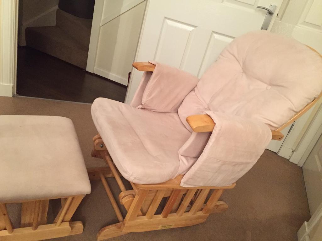 Babyweavers Recline glider Chair and Stool