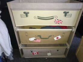 Storage drawers boys bedroom