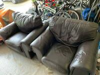 2 large Sofitalia armchairs