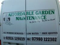 Affordable Garden Maintenance from £7 Fortnightly Dewsbury, Morley, Birstall, Mirfield, Cleckheaton