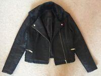 Newlook imitation leather biker jacket