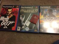 007 PS2 games and memory card