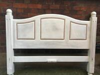 Shabby-chic Solid Wood Headboard - Double