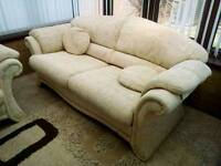 Two sofas & footstool