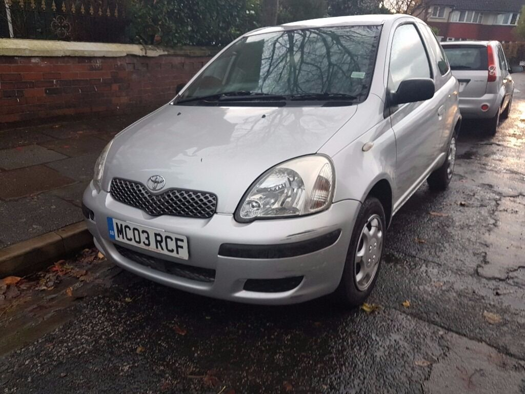 toyota yaris t3 2003 03 1 0 litre petrol 3 door silver 12 months mot in chorlton manchester. Black Bedroom Furniture Sets. Home Design Ideas