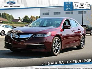 2015 Acura TLX TECH PKG*SH-AWD*CUIR*TOIT*NAVI*CAMERA**