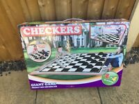 Giant outdoor checkers/draughts