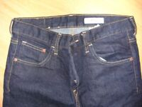 Dark denim drain jeans - waist 30, leg 32, hardly worn