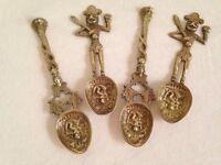 Ceremonial Hindu/Buddhist Brass Temple Spoons