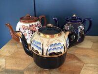 3 pretty vintage teapots