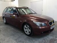 2005 BMW 5 SERIES 535D TOURING 5dr DIESEL COMFORT SEATS LEATHER FULL SERVICE HISTORY LONG MOT #WOW