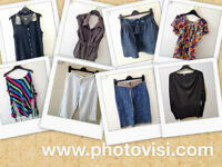 Womens size 10 smart summer clothes bundle - 8 items - tops, skirts, linen trousers
