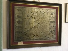MAP of Wales on Stainless Steel