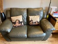 2x2 seater leather settees