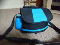 Large blue camera bag 2in1