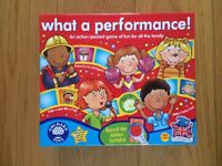What a Performance! Game by Orchard Toys - Brand New and unopened
