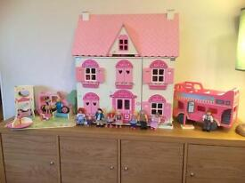 Rosebud Village Dolls House and many extras