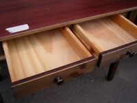 Solid Pine Hallway Table With 2 Drawers