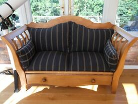 Antique French Pine 2 Seat *SOLD*