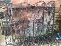 Wrought iron garden/ driveway gates *