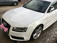 2009 AUDI A5 S5 FSI AUTOMATIC TIP-TRONIC F1 PADDLE SHIFT QUATTRO IN STUNNING WHITE HPI CLEAR