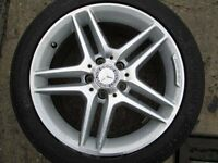 "GENUINE UPGRADED MERCEDES C CLASS 17""ALLOYS WITH TYRES"