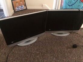 2x wharfedale TV / DVD / PC SCREEN COMBO £25 EACH 2 FOR £45 19""