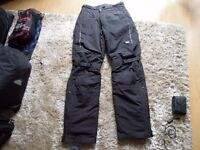 Hein Gericke warm over trousers for motorcycling 32-34 waist. Padded