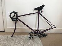 Women's fixed gear bike purple & black 53 cm frame