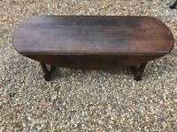 Dark wood solid coffee table