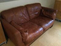 Leather Sofa and Armchair