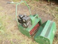 PETROL LAWNMOWER RANSOMES 24 WITH BOX CYLINDER GOCART CHEAP SPARES REPAIR