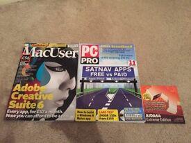 Mac User Magazine 2012 / PC Pro Magazine 2012