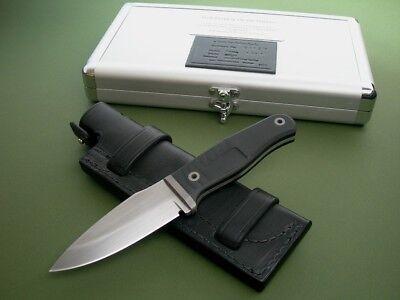 ROB BAYLEY KNIFE 1 of 1 DEVAL-RAVEN / ORIGINAL SHEATH / CUSTOM METAL CASE / RARE