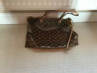 Louis Vuitton style used beach bag