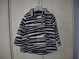 Next swing spring/summer black and white coat age 3-4