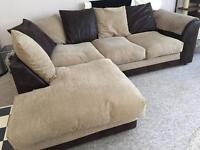 Huge corner sofa plus matching large two seater