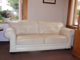 Three seater and one chair quality leather suite