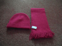 M&S Girl's Hat and Scarf Set