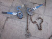 Tractel 3 Ton Lever Ratchet Block Chain Hoist