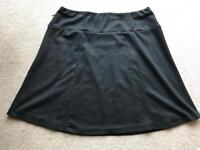 Black a-line skirt size 16