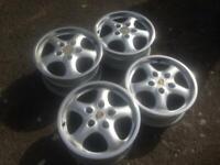 "Porsche alloy wheels Original 911 cup2 17"" staggered 944 924 968 911"
