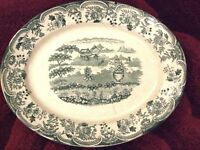 Large Plate 14inch and Platter 21inch Alfred Mekin