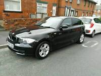 Bmw 1 series 1.6 petrol black 5 doors.not focus astra corolla honda